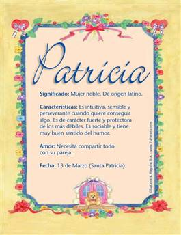 Nombre Patricia