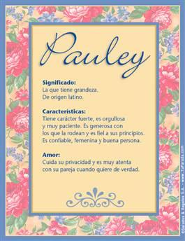 Nombre Pauley