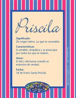 Nombre Priscila