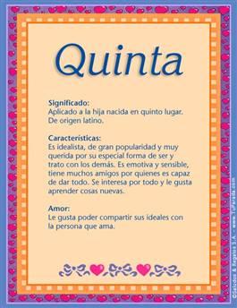Nombre Quinta