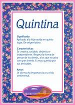 Nombre Quintina