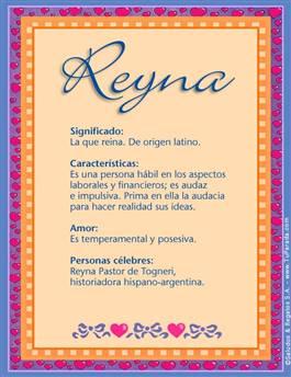 Nombre Reyna