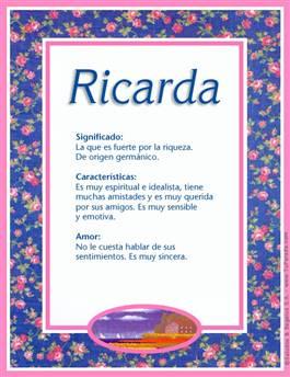 Nombre Ricarda