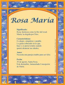 Nombre Rosa María