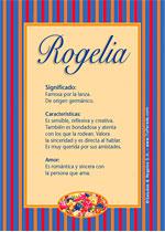 Nombre Rogelia