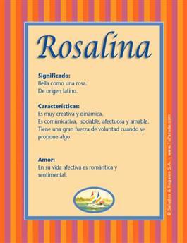 Nombre Rosalina