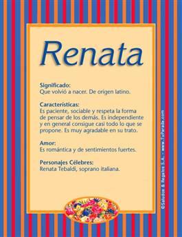 Nombre Renata
