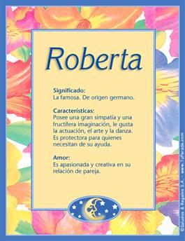 Nombre Roberta