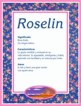 Nombre Roselin