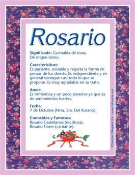 Nombre Rosario