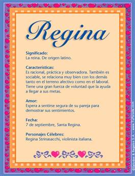 Nombre Regina