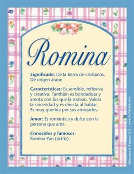 Nombre Romina