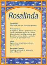 Nombre Rosalinda