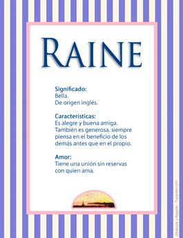 Nombre Raine