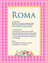 Nombre Roma