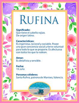 Nombre Rufina