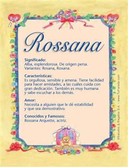 Nombre Rossana