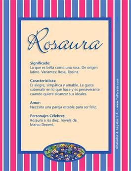 Nombre Rosaura