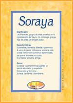 Nombre Soraya