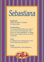 Nombre Sebastiana