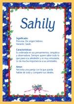 Nombre Sahily