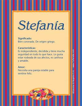 Nombre Stefanía