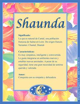Nombre Shaunda