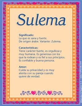 Nombre Sulema