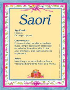 Nombre Saori