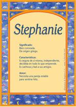 Nombre Stephanie