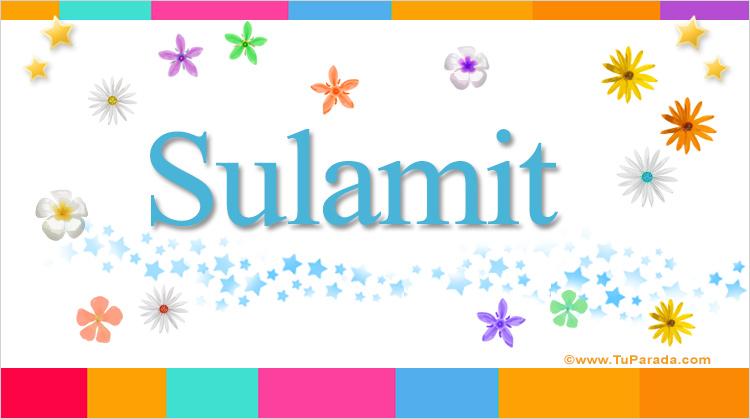 Sulamit, imagen de Sulamit