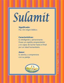 Nombre Sulamit