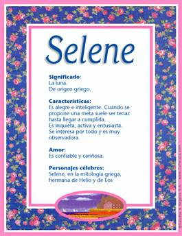 Nombre Selene