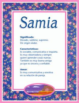 Nombre Samia