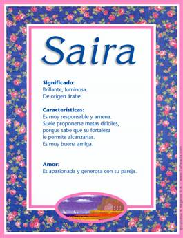 Nombre Saira