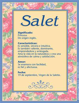 Nombre Salet