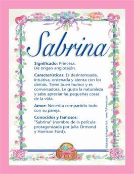 Nombre Sabrina