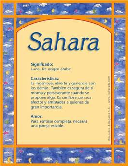 Nombre Sahara