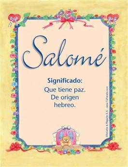 Nombre Salomé