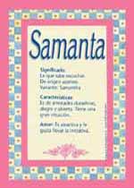 Nombre Samanta