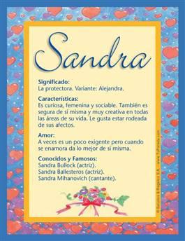 Nombre Sandra