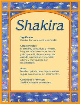 Nombre Shakira