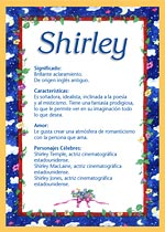 Nombre Shirley