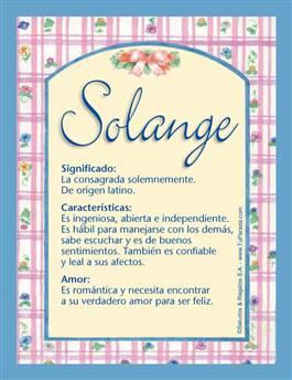 Nombre Solange