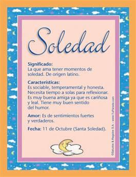 Nombre Soledad