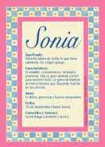 Nombre Sonia