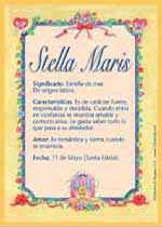 Nombre Stella Maris