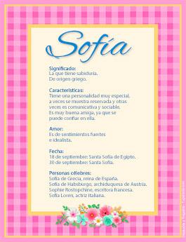 Nombre Sofía
