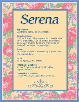 Nombre Serena