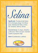Nombre Selina